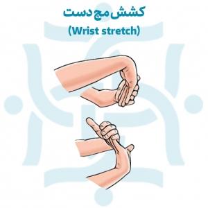 کشش مچ دست برای تمرینات ورزشی پس از درمان شکستگی مچ دست