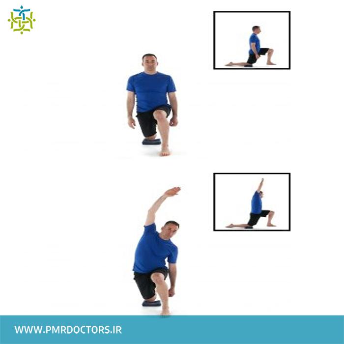 4.کشش عضله ی ایلیوپسواس: